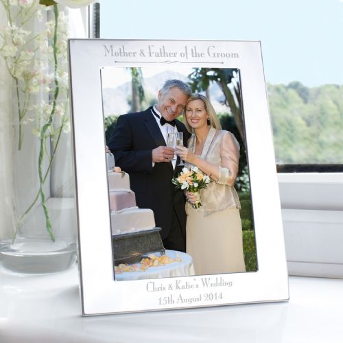 Personalised Silver 5x7 Decorative Mother & Father of the Groom Frame